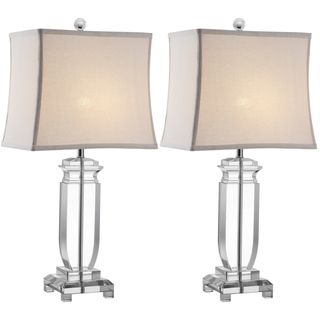 Overstock.com - Indoor 1-light Olympia Crystal Table Lamps (Set of ...