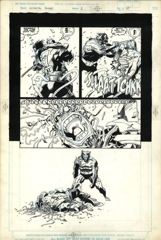 Wolverine:The Jungle Adventure p.41 Comic Art