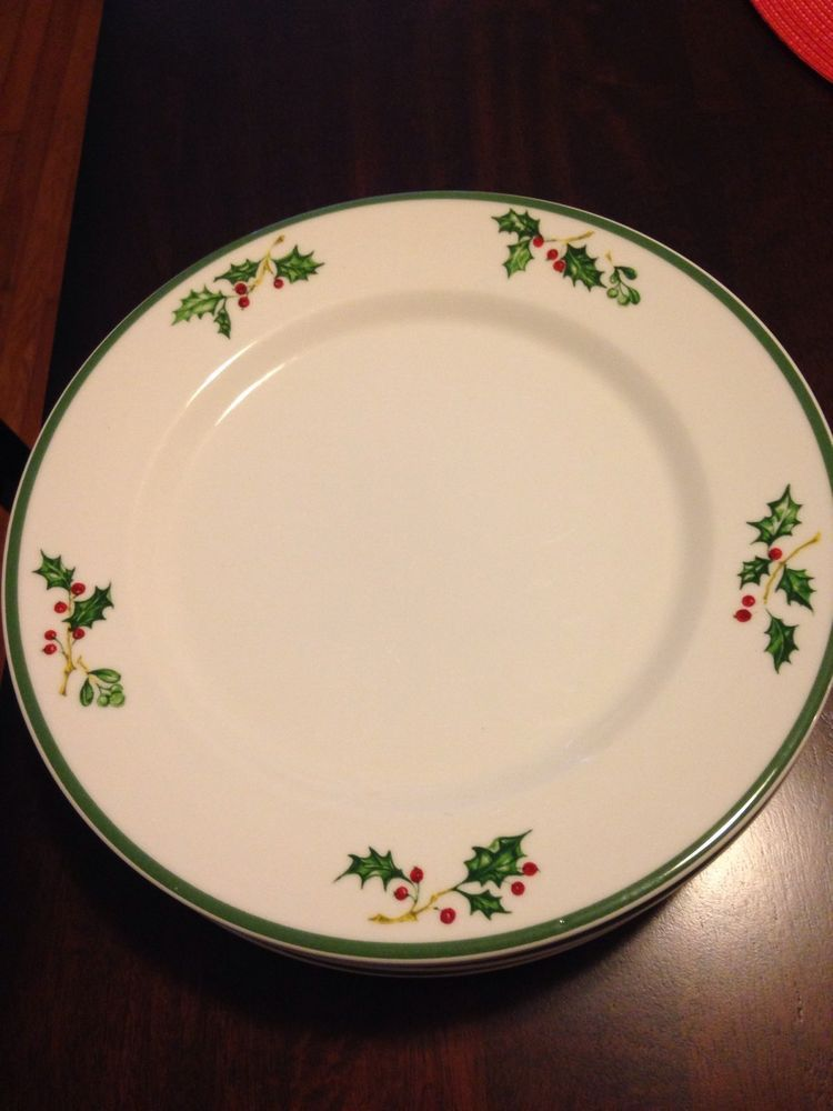 8 christopher radko dinner plates tradition holiday celebrations & 8 christopher radko dinner plates tradition holiday celebrations ...