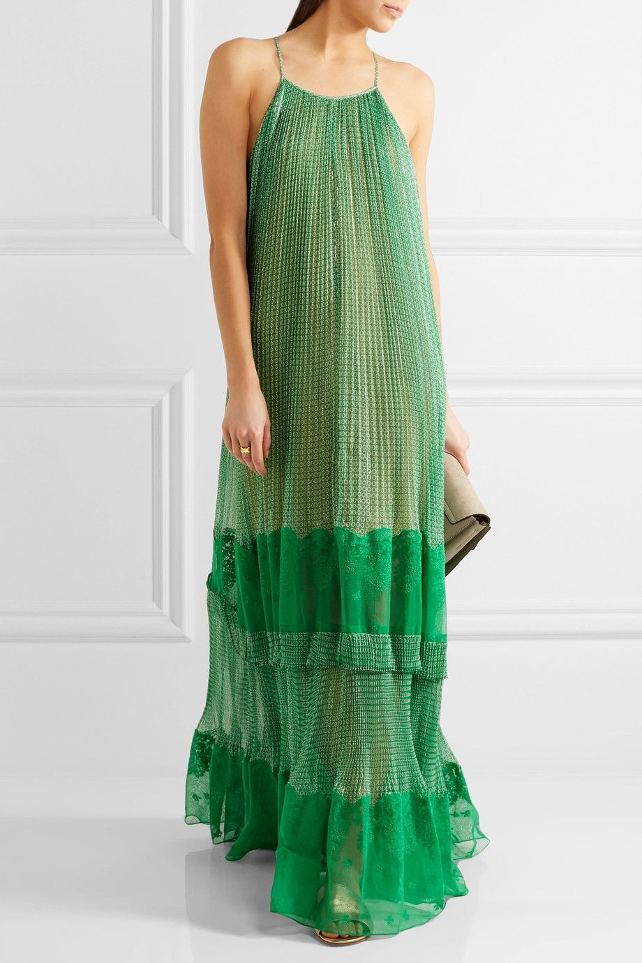 printed maxi dress - Green Stella McCartney W9gTcZvocv