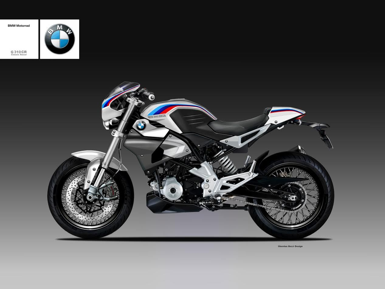 Bmw S Baby G 310 Cafe Racer Gets Rendered Motos Motocicletas