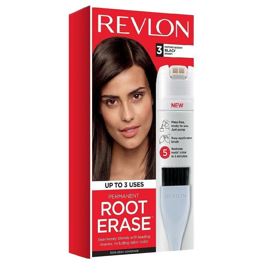 Revlon Root Erase Hair Color Root Touch Up Hair Dye 100 Gray Coverage 3 Black Ebay Safe Hair Dye Root Touch Up Hair Color