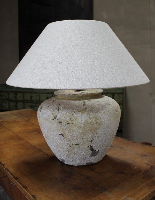 Gray Table Lamps Delectable Table Lamp With Oatmeal Linen Shade Height Wmxtf742P400Mm Diameter Inspiration