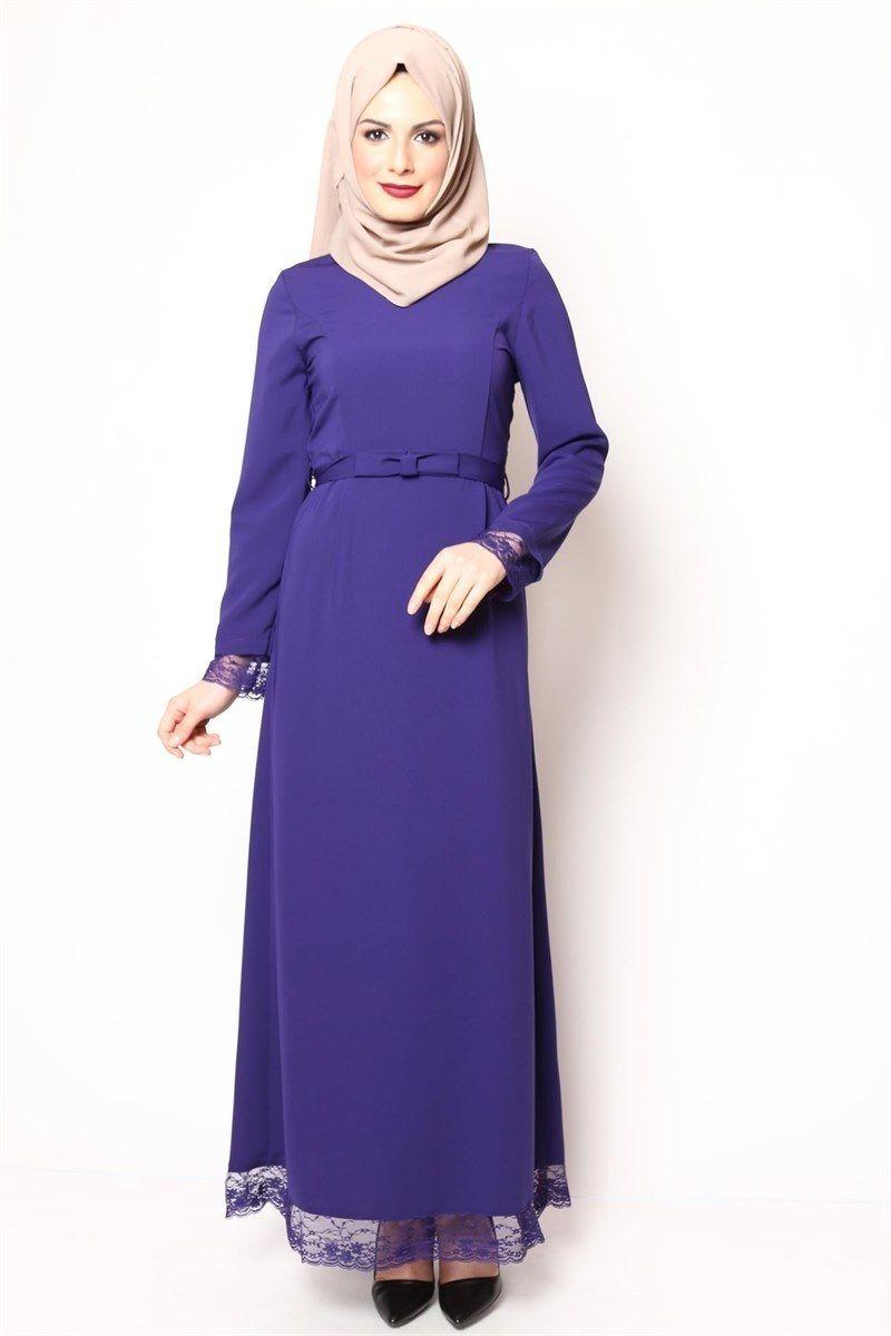 Kol Ve Etek Ucu Dantelli Elbise Modelleri Elbise Elbise Modelleri Elbiseler