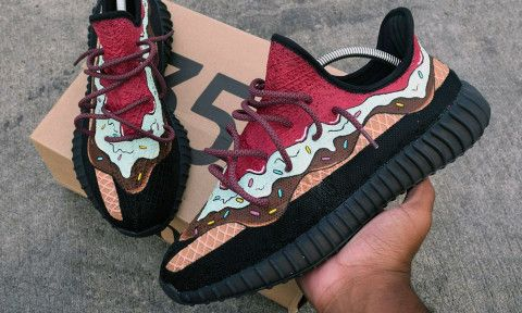 reputable site dba0a 4d8ed Watch How This Sneaker Customizer Made an Amazing Pair of Ice  Cream-Inspired YEEZY Boosts