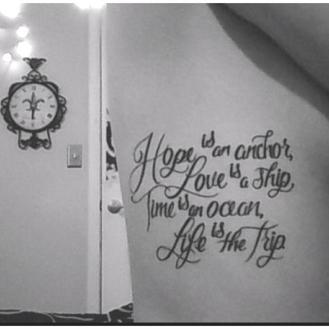 Tattoos Lyric Strait George
