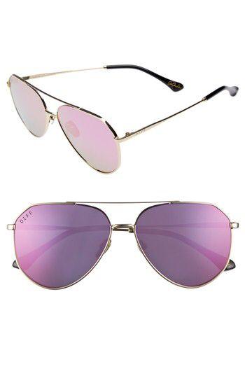 1292cf583e231 DIFF DIFF x Jessie James Decker Dash 61mm Polarized Aviator Sunglasses  available at  Nordstrom