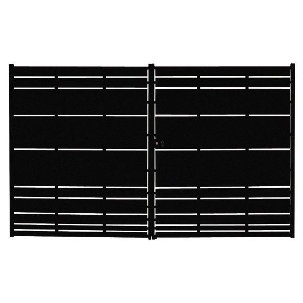 Portail fer battant Cassiopée, coloris noir, 182 x 300cm porte