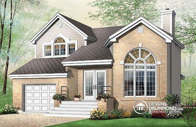 Plan de maison no W2444 de dessinsdrummond Bonne idée maison - idee de plan de maison