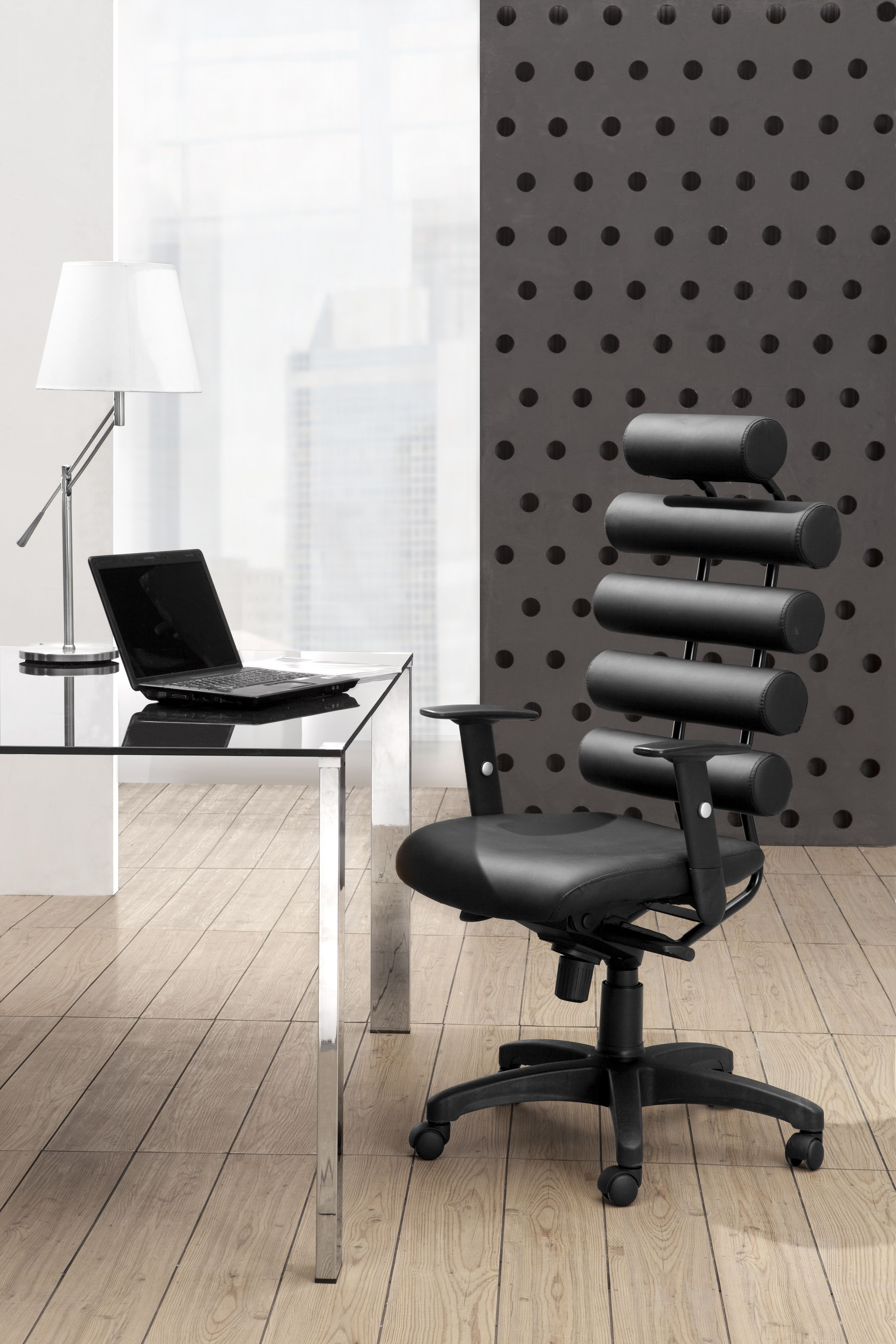 unico office chair. Unico Office Chair Black - Zuo 205050 This High Back Provides Ultimate Lumbar Support The Has Firm Leatherette I