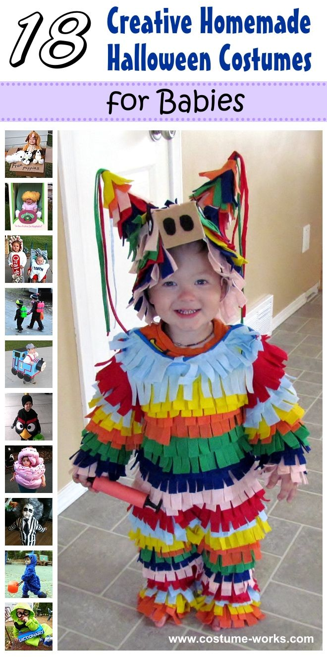 18 creative homemade halloween costumes for babies for Creative toddler halloween costumes
