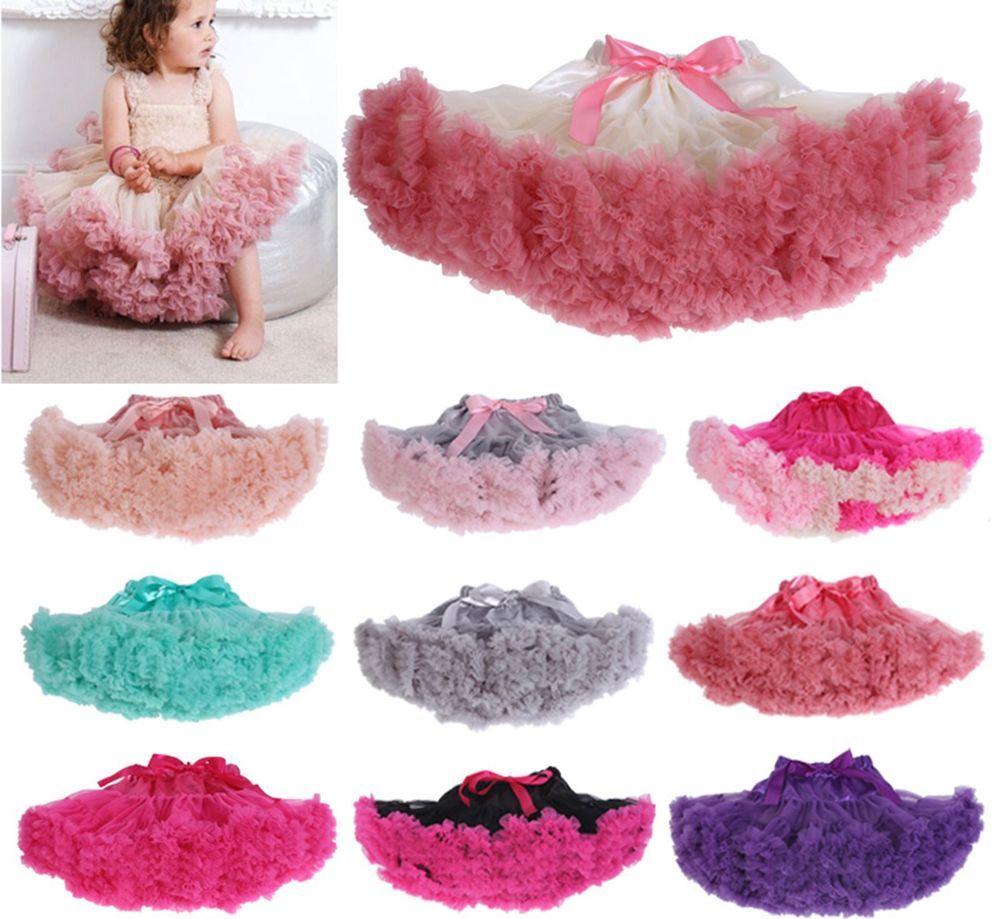 Girl Kids Lavender Pettiskirt Tutu Fluffy Skirt Dance Party ...
