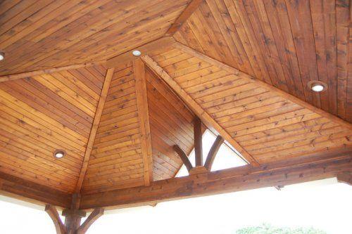 Wood Ceiling On Gazebo Patio Decor Pool Patio Outdoor Living