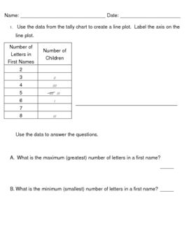 Simple 2 Question Practice To Use As A Review For Students Who May Need A Little Bit More Help Understanding Converting Data In Everyday Math Tally Chart Math