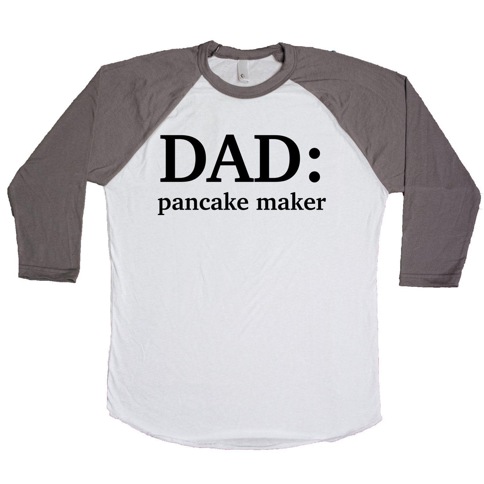 Dad Pancake Maker Unisex Baseball Tee #pancakemaker Dad Pancake Maker Unisex Baseball Tee #pancakemaker