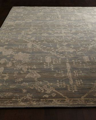 """Avonlea Rug at Horchow.   7'9"""" x 9'9"""".  •Hand tufted of wool and silk."""