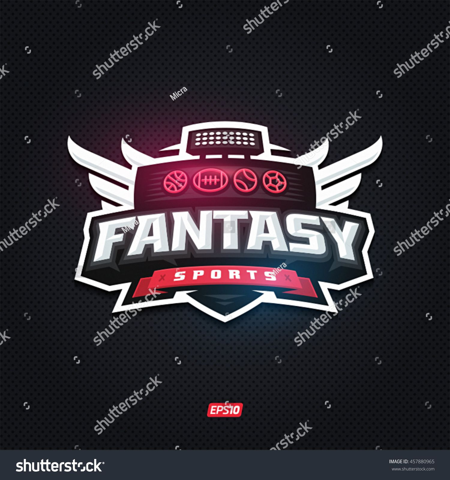 shutterstock fantasy sports logo Sports templates