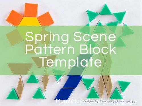 Spring Pattern Block Template - Make a fun spring scene with this - pattern block template