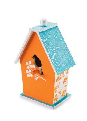 #Birdhouse With Bird Cutout