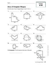 Area Of Irregular Shapes Worksheet | Hot Resources 2.4 | Pinterest ...