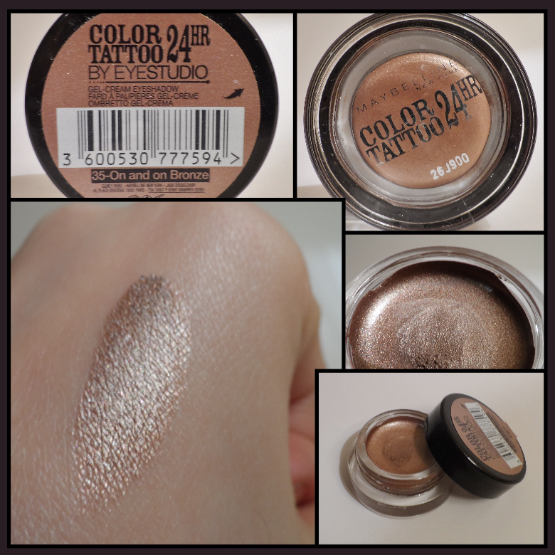 Swatch color tattoo maybelline new york 35 on and on for Maybelline color tattoo creme de nude