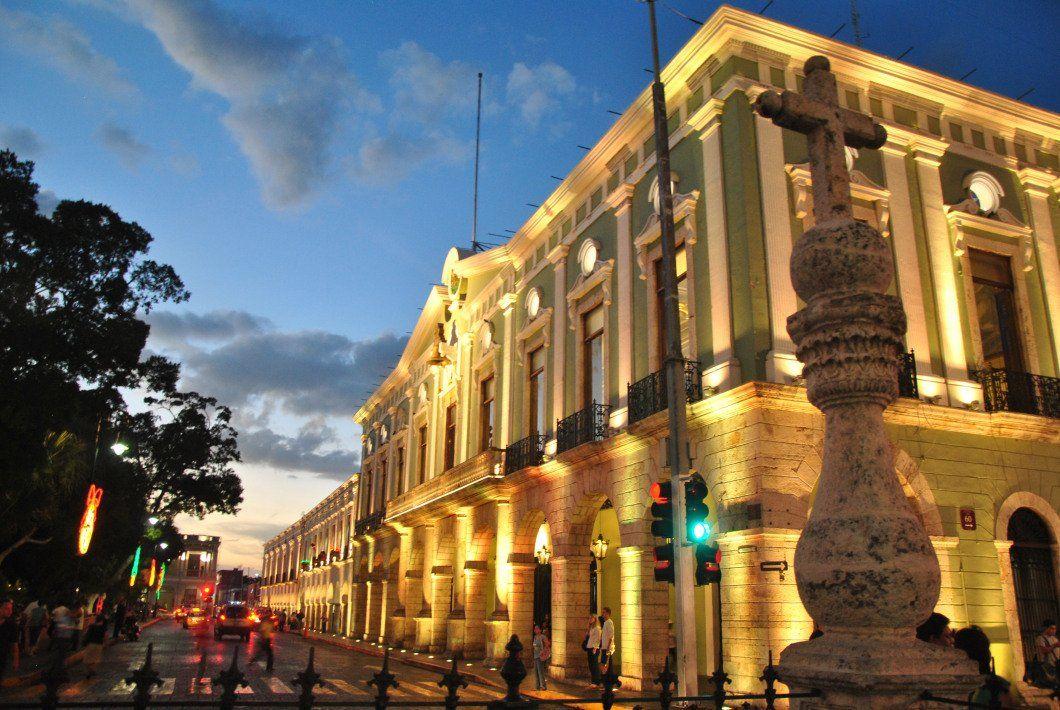 Palacio de Gobierno en el centro historico de Mérida,Yucatán.
