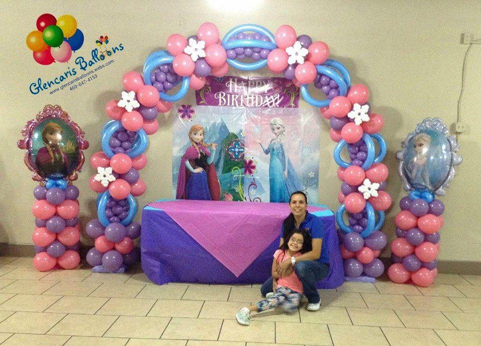 Balloon arch balloon decorations pinterest balloon for Frozen balloon ideas