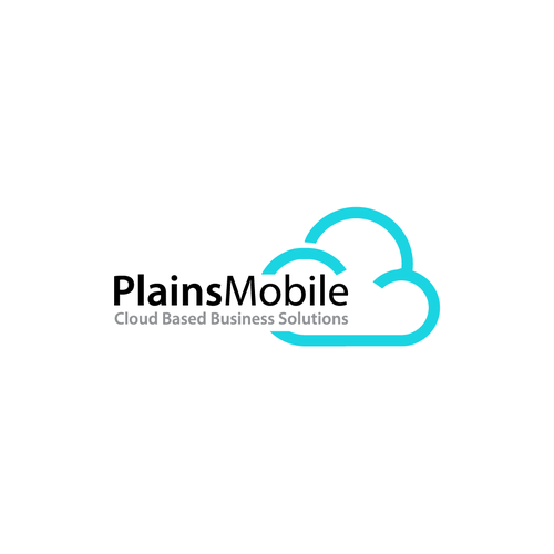 Plains Mobile Design A Cloud Based Technology Companies New Logo We Are A Software Development Business That Is Wo Simple Logo Cloud Based Business Solutions
