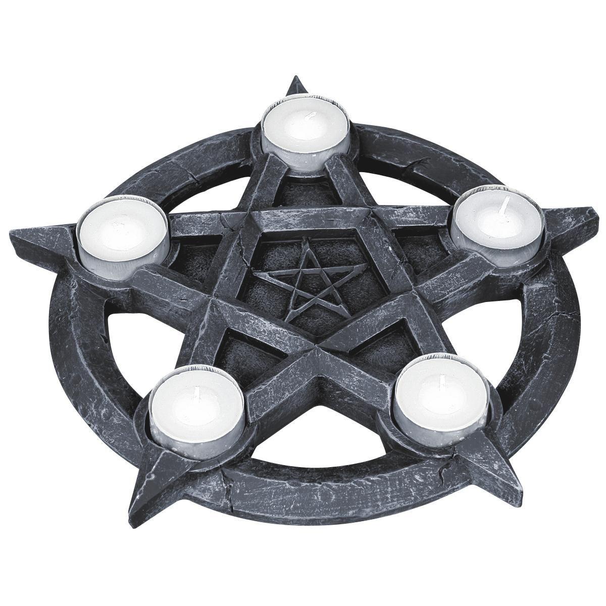 Nemesis Now huolehtii mukavasta tunnelmasta: Pentagram Tealights -tuikkupidike…