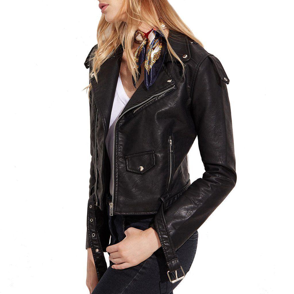 Mod fonzi faux leather moto jacket vegan leather moto