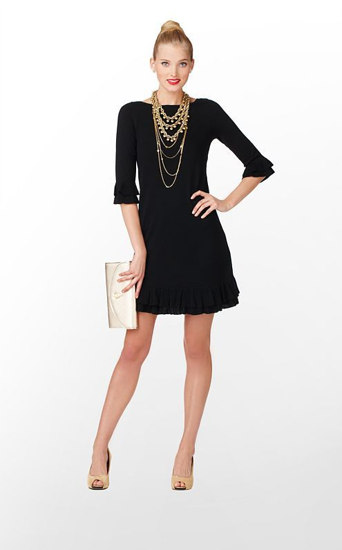 4ea82eb55c9 Love the Helena Sweater Dress from  Lilly Pulitzer + statement necklaces   holidayentertaining