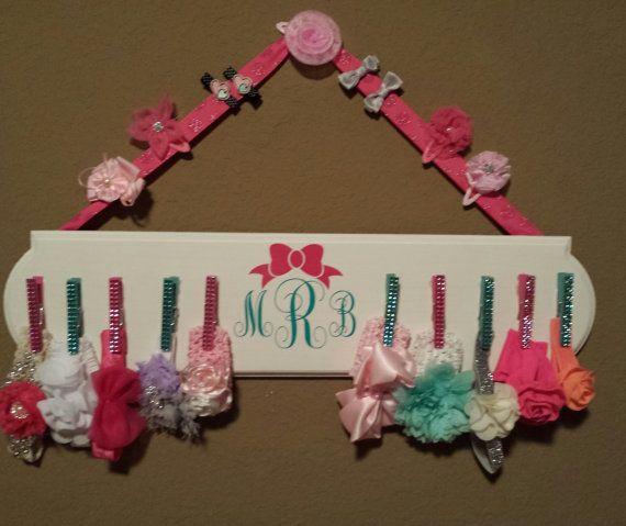 Baby girl's headband holder by CraftmanticalGalz on Etsy