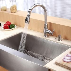 Kraus Farmhouse Apron Front Stainless Steel 30 In 0 Hole Single Bowl Kitchen Sink K With Images Single Bowl Kitchen Sink Stainless Farmhouse Sink Farmhouse Sink Kitchen