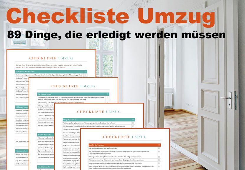 Umzugsorganisation Checkliste checklisten paket organisieren und familie housekeeping