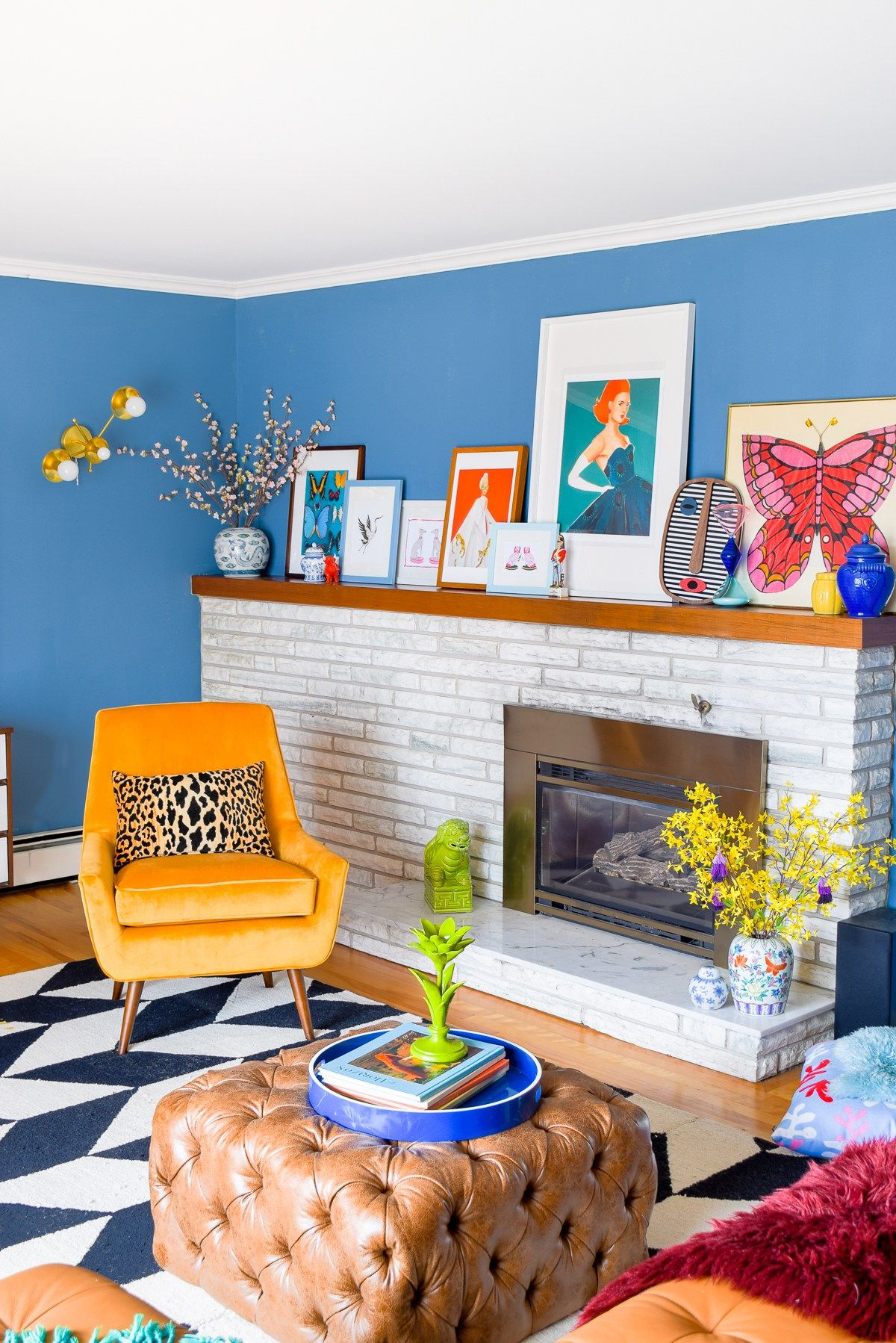 3 Home Decor Trends For Spring Brittany Stager: Mid Mod Eclectic Living Room