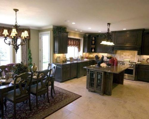 100 Küchen Designs – Möbel, Arbeitsplatten und zahlreiche Einrichtungslösungen - küchen essbereich stühle teppich grau monochromatisch design