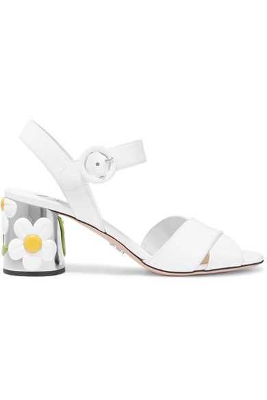 f71eb5a2dcf PRADA Embellished patent-leather sandals.  prada  shoes  sandals ...
