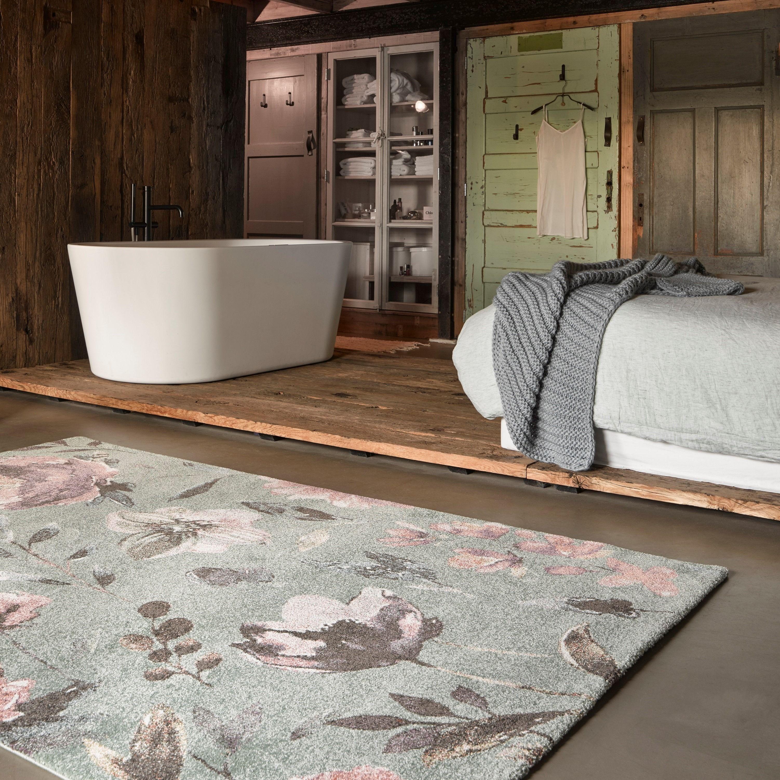 Wecon Home Kurzflor Teppich » Summer Breeze « mint grün #bohemianbedrooms
