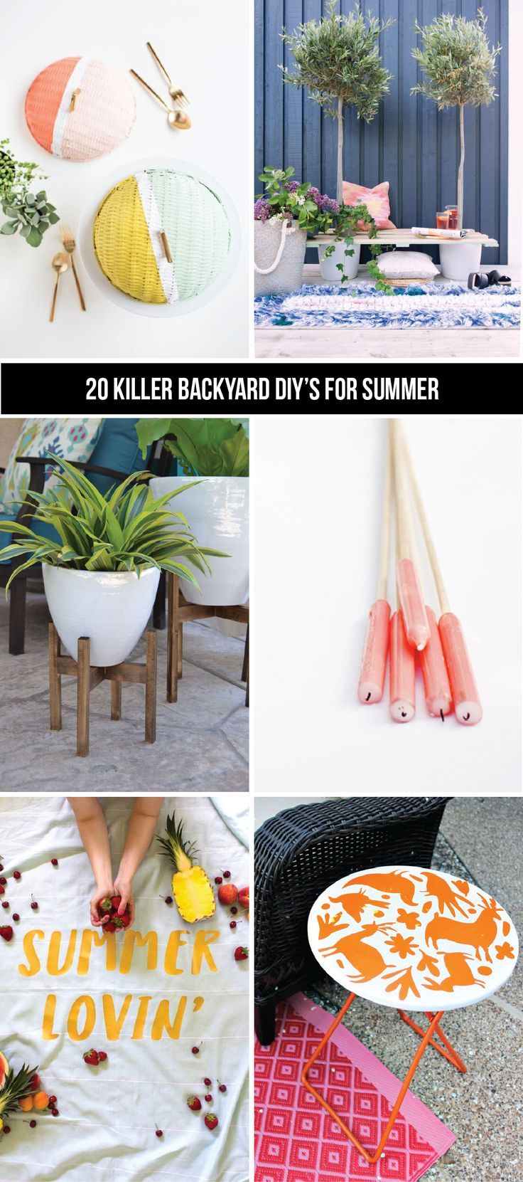 We've rounded up 20 of the best backyard DIY projects to tackle for summer. Click to check them all out!