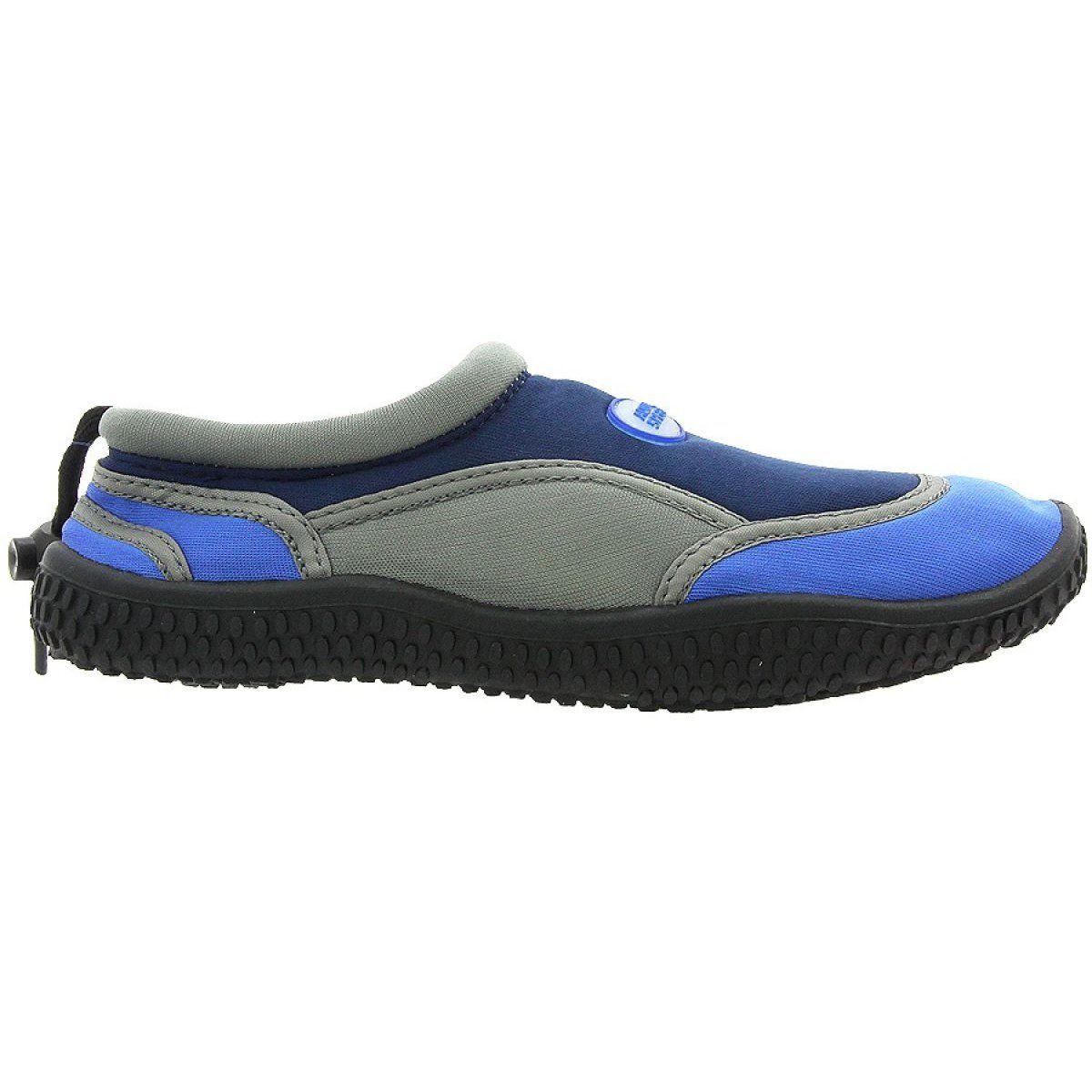 Aqua Speed Jr Neoprene Beach Shoes Navy Gray Multicolored Beach Shoes Shoes Neoprene