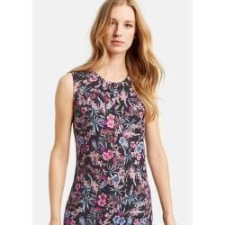 Ärmellose Bluse mit Blumen-Print Mehrfarbig Taifun #flowerdresses