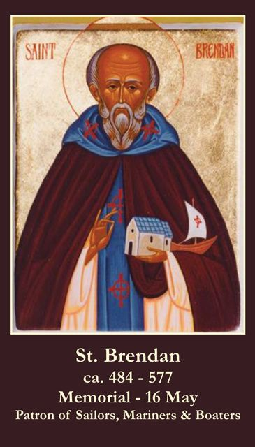 St. Brendan Prayer Card | St brendan, Saints and Prayer cards