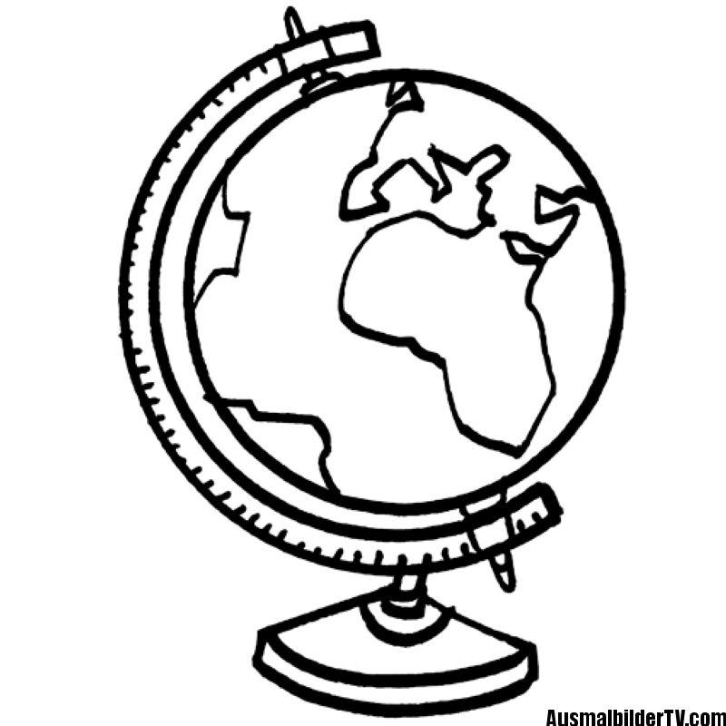 Ausmalbilder Kostenlos Globus Stitch Disney Latin Words Three Dimensional