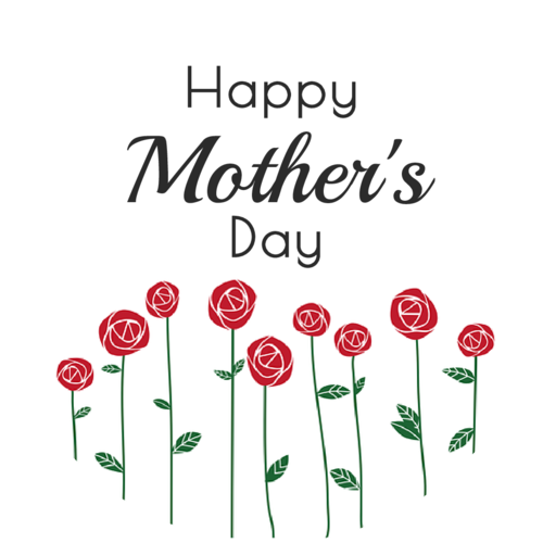 Wish Mom A Happy Mother S Day With This Floral Sticker Template Design Features Long Stem Roses Growing Happy Mothers Day Custom Printed Labels Happy Mothers