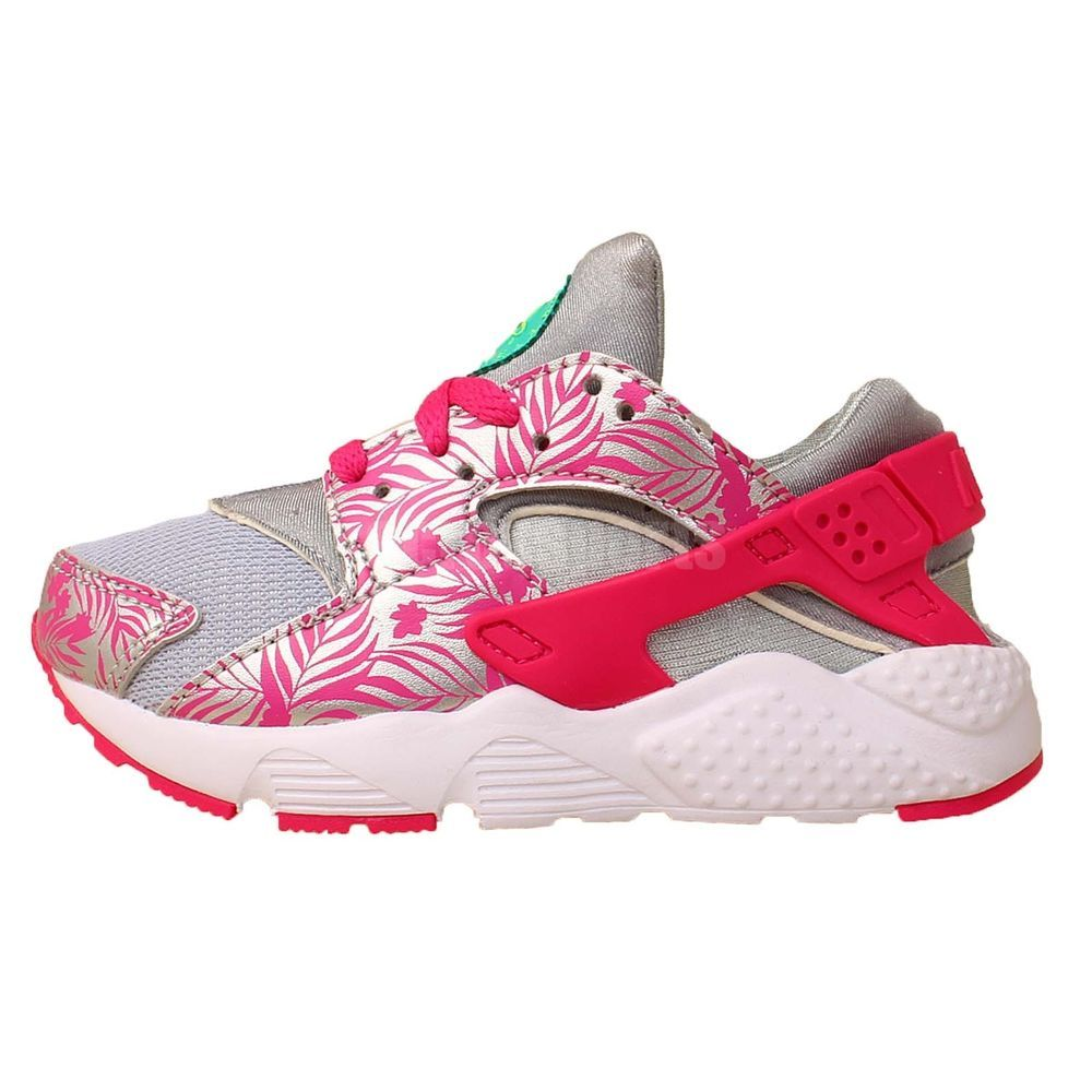 Nike Huarache Run Print PS NSW Grey Pink 2015 Preschool Girls Running Shoes