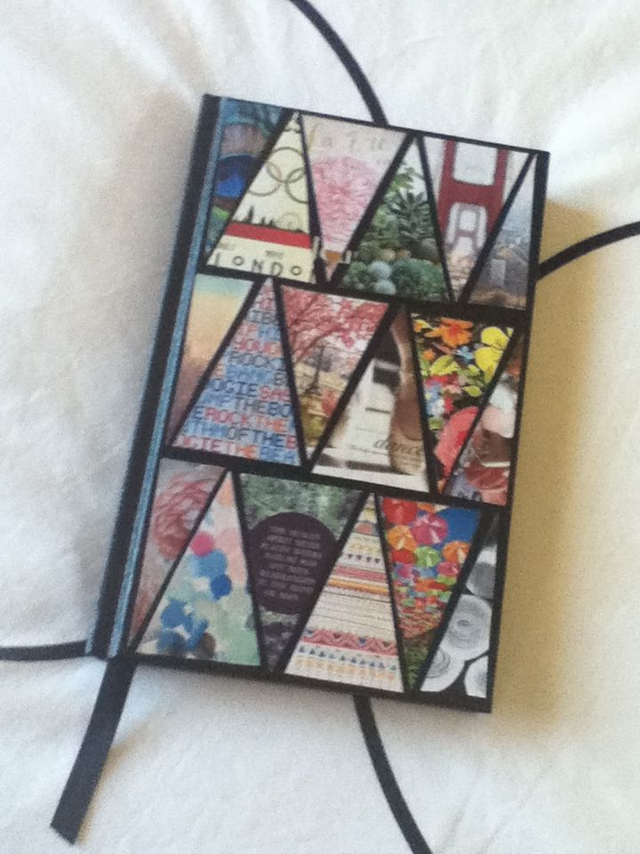 Diy triangle journal cover simply mod podge and pictures