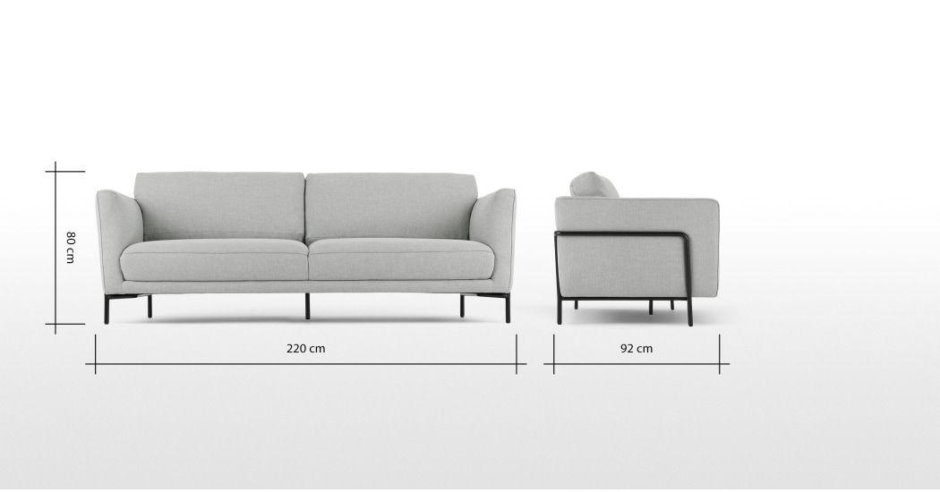 Made Sofa Grau 3 Seater Sofa Sofa Sofa Furniture