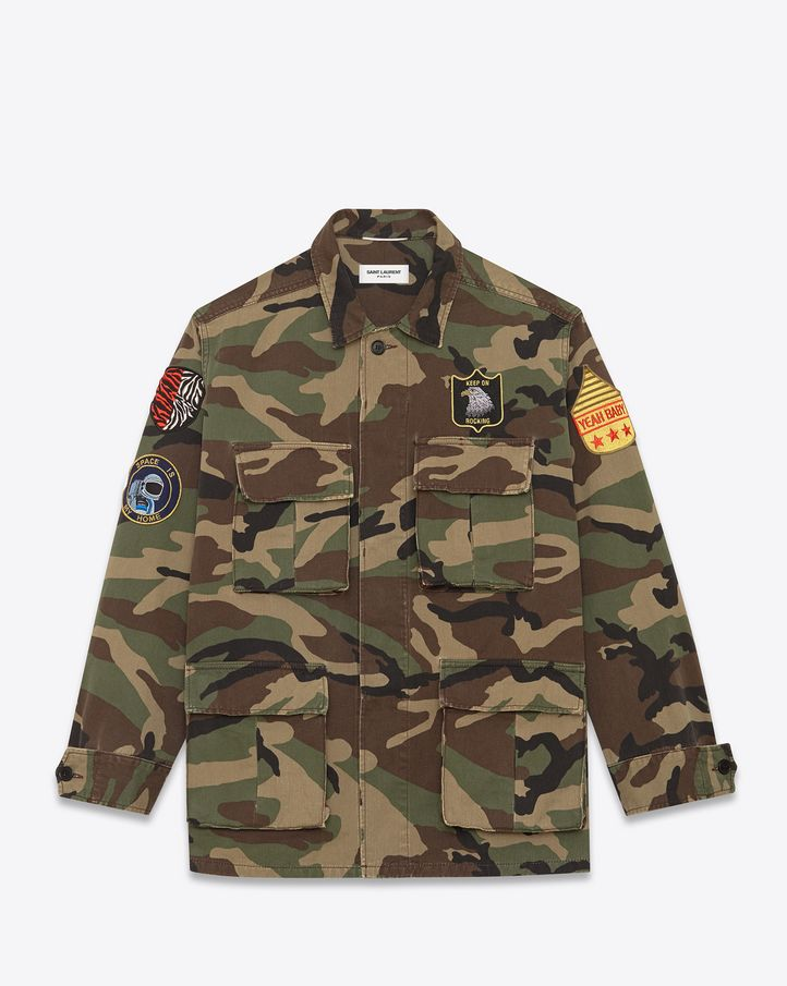 Saint Laurent M65 woodland camo jacket | Menstyle | Pinterest