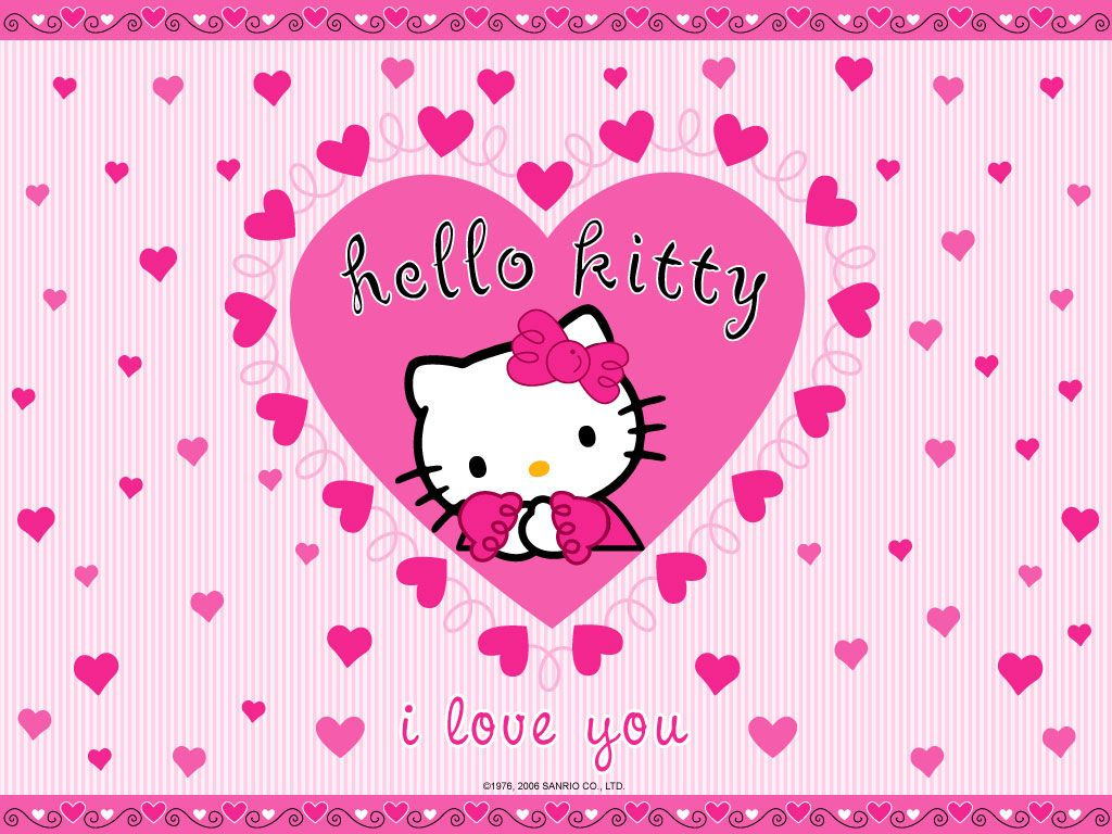 Who android wallpaper pictures of snow free hello kitty wallpaper - I Love Pink Filed Under 1024 768 Lovely Hello Kitty Wallpapers