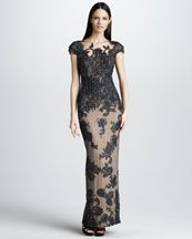 Mandalay Cap-Sleeve Gown from Saks at 150 WORTH!